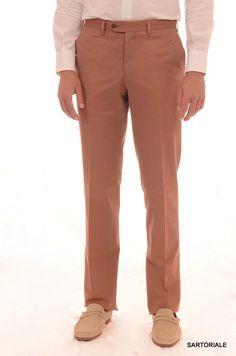 RUBINACCI Napoli Bronze Cotton Casual Pants NEW Straight Classic Fit