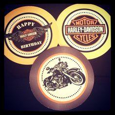 Modelos de Tags Festa da Harley Davidson por Efe'Studio Design®