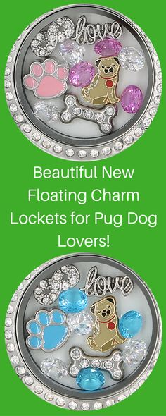 Beautiful New Charm Locket for Pug Dog Lovers!  Available in multiple colors.  Get yours before their gone!