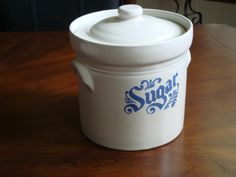 Pfaltzgraff USA Yorktowne Salt Glazed Sugar Cannister! by BucketListGarnishes on Etsy