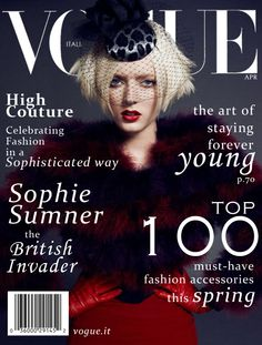 Sophie Sumner in VOGUE