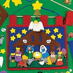 Felt Nativity Countdown Banner Craft Kit