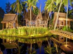 What an interesting place. I'll have to investigate this place some more.    Bambu Indah Villa Bali - Hotel Exterior