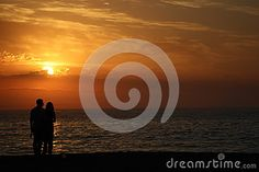 Enjoying a sunset with a loved one