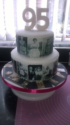 Have A Beautiful Photo Cake For Special 95th Birthday Grandma Cakes 90th