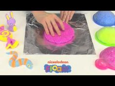Check out this great tutorial on how to use Nickelodeon Floam. Floam is the incredible, reusable molding compound that will keep you creating for hours on end! Mold your own creations or transform almost anything into a Floam-covered masterpiece. Roll it, mold it, cover it - that's the way you Floam it.    After you're done, squish Floam back into its container and use it again and again or let your creation harden overnight and keep it forever!
