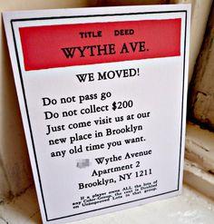 We've moved...postcard ideas