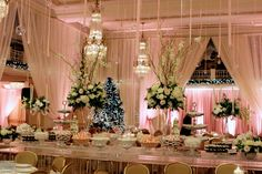 wide shot of the room's decor