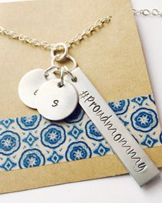 Proud Mommy Hashtag Necklace Mom Necklace, Mom Gift, Personalized Initial Necklace