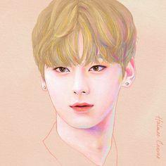 Nu Est, Kpop Fanart, Love Painting, Korean Singer, Boy Groups, Fan Art, Manga, Drawings, Illustration