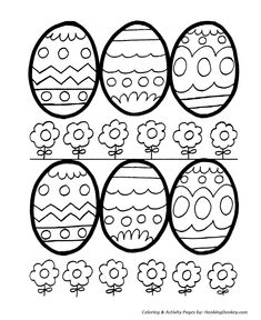 Easter Egg Coloring Pages - Decorative Easter Eggs for Coloring