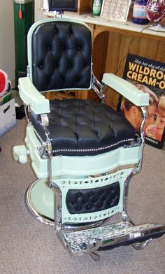 1920S KOKEN BARBER CHAIR RESTORED CUSTOM FLIP STEP MORRISON