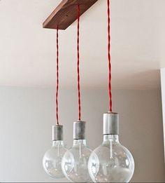 Pendente luminária 3 cabos