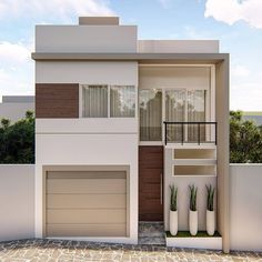 You can turn your house into a very nice place. House Outer Design, Modern Small House Design, Bungalow House Design, House Front Design, Dream House Plans, Modern House Plans, Home Building Design, Building A House, Minimalis House Design