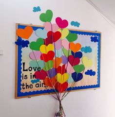 Love Is In The Air Bulletin Boards Love Kindergarten School Love Is In The Air Bulletin Boards Love Kindergarten School<br> February Bulletin Boards, Office Bulletin Boards, Valentines Day Bulletin Board, Kindergarten Bulletin Boards, Winter Bulletin Boards, Classroom Bulletin Boards, In Kindergarten, Bulletin Board Ideas For Church, Ideas Decoracion Salon