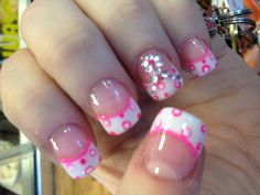 My breast cancer awareness nails!