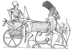 Free Coloring Page Egypt Char For Adult Egyptian Pharaoh Carrying A Tank With An Armed Guard Of Arc