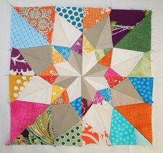 Jessica's Blocks R3 | My first attempt at paper piecing. Thi… | Flickr