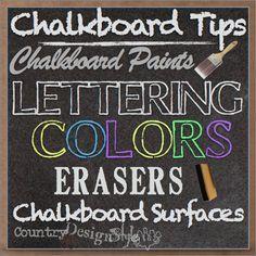 Helpful info for chalkboard fans.