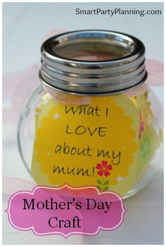 "Mothers Day Craft_ a twist could be ""what I love about my daughter"" ""what I love about my husband"""