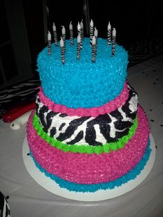 Cake I made for my baby Ashleys 13th Birthday Party!
