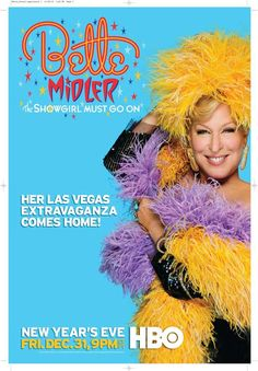 Bette Midler: The Showgirl Must Go On 27x40 Movie Poster (2010)