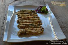 alici gratinate con cipolla caramellata