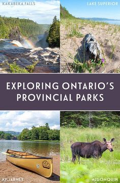 A journey through the heart of Canada by RV, visiting four of Ontario's beautiful Provincial Parks – Kakabeka Falls, Lake Superior, Killarney and Algonquin. British Columbia, Quebec, Banff, Nova Scotia, Rocky Mountains, Ontario Provincial Parks, Ontario Travel, Ontario Camping, Ontario Parks