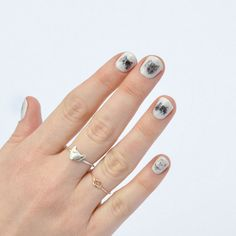 Kitty nail transfers