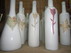 botellas recicladas decorativas