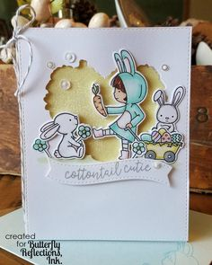 I'm up on the @butterflyreflectionsink blog today with this sweet card with products from @neatandtangled ! #butterflyreflectionsink #neatandtangled #handmadecards #handmade #papercrafts #papercrafting #cardmaking #cardmakinghobby #handmadewithlove  #easter #spring #cottontailcuties #nuvo