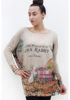 Jumper with Lora Rabbit - Beige