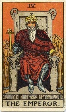 Emperor from the Pamela Colman Smith Centennial Tarot