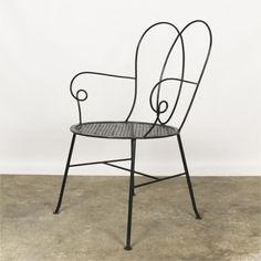 Curled Iron Chair