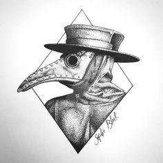 Plague Doctor Mask by SophieBlack-Art