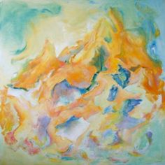 Bain de Jouvence 100x100cm : peinture à l'huile sur toile