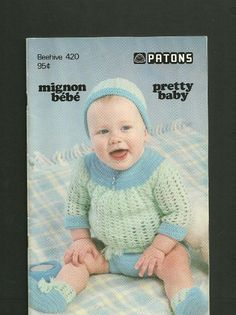 KNITTING and CROCHET Pattern Book for BABY  Pretty by KenyonBooks, $5.00