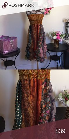 Bohemian dress-LAST ONE! Gorgeous strapless dress. Can also be worn as skirt. By aller simplement aller simplement Dresses