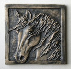 Horse tile 1 - 3.75 x 3.75 Comes in different colors.