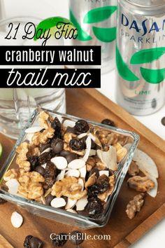 21 Tage Fix Cranberry Walnut Trail Mix # Geschmackswettbewerb [ad] - 21 Day Fix: Recipes, Prep, and Tips - Trail Mix Recipes, Fall Recipes, Whole Food Recipes, Dog Food Recipes, Snack Recipes, 21 Day Fix Snacks, 21 Day Fix Diet, Kid Snacks, Gluten Free 21 Day Fix