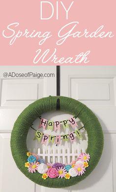 DIY Spring wreath tutorial - easy and cute  #diy #spring #wreath tutorial!