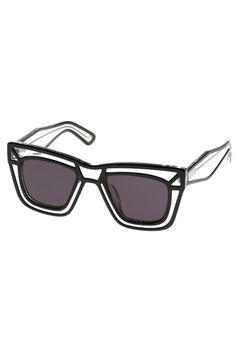 KSUBI Skeleton Sunglasses - Black/Clear