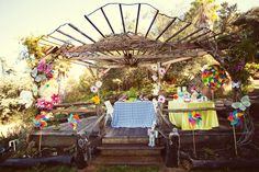 outdoor oz party... I think this is a perfect theme to do a bit of shabby chic with!