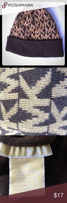 🙌🏼Michael Kors hat! Great condition brown MK hat! Authentic!! Michael Kors Accessories Hats