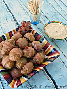 Hun... What's for Dinner?: Bacon Wrapped Creamer Potatoes