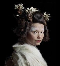 Japanese-inspired hair with dried sea urchins. Oh, yes... and Björk again.