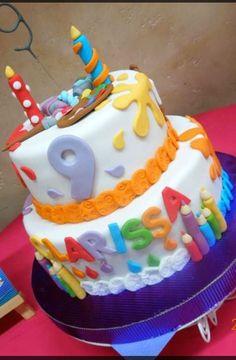 Arts & Craft birthday cake