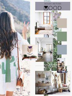 Lilac Grey di Giugno si trasforma in Succulents and friends MOOD   Caratteristiche. E' un MOOD genuino, legato alla natura e alla quiete del quotidiano. Come le piante grasse lo spazio è lento, composto, sfumato. Difficile soffermarsi sui dettagli, l'ambiente è uno ed è fatto per inglobare in un'atmosfera ovattata e rilassante. Le pareti sono bianche, le superfici in legno chiaro con sfumature di grigio, i tessili e gli accessori riprendono il Lilac grey insieme all'azzurro polvere.