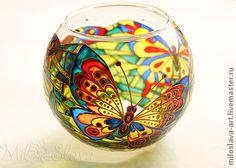 """Подсвечники ручной работы. Ярмарка Мастеров - ручная работа Подсвечник """"Бабочки"""". Handmade."""