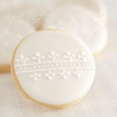 White on White Vintage Lace Wedding Cookie Favors // 1 doz. // Wedding Bridal Shower Vintage Spring. $25.50, via Etsy.